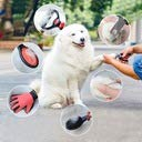 Haustier-Pflegeset - Professionellee Fellbürste, Haarentfernungskamm, Fellpflegehandschuh, Krallenschere – Pflege-Komplettset für Hundefell, Katzenhaar, Pferdemähne & Nager - Rot
