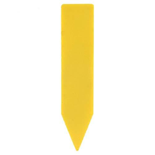 Broco 100 Piezas de plástico Planta de la Flor de la semilla Nombre Estaca Etiqueta de la Etiqueta del Marcador (Amarillo)