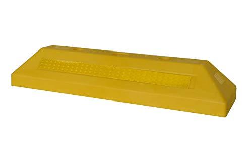 SNS SAFETY LTD Kunststoff Radstopp-Parkbegrenzung für Parkplätze und Privatgaragen, Gelb, 53x15x9,5 cm (1 Stück)
