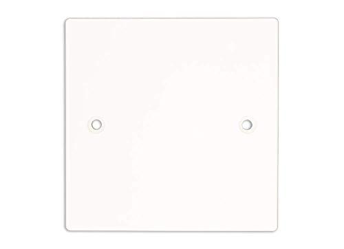 Klite Single 1 Gang Electrical Socket Blanking Plate - White