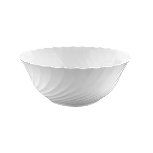 Luminarc 54455 Trianon - Ensaladera (24 cm), Color Blanco