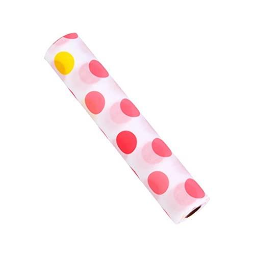 Für Wohnkultur. DJM-Kunststoff-Drucktapete wasserdichte Schublade Papier Bunte Matte Kleiderschrank Küchenkabinett Pad, Größe: 45x160 cm (Farbe : Red Dot on White)