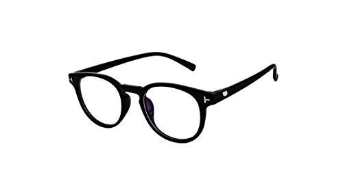 Fancy-Creation Transparent Reading Glasses Zero Power Oval Frame Spectacles For Men & Women
