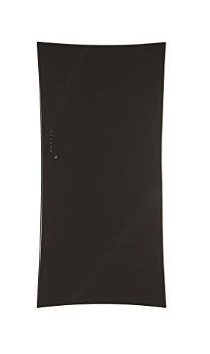 Lohema Design glazen radiator elektrische vlag 1500 W zwart 1600 x 670 mm