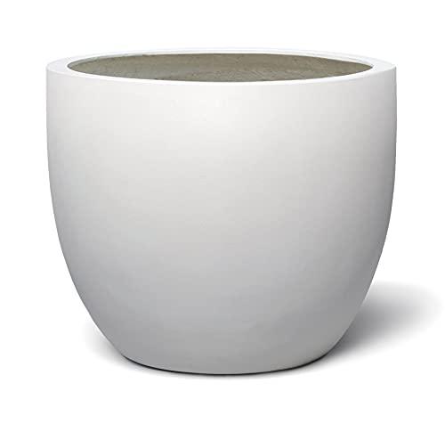 VAPLANTO® Pflanzkübel Egg Pot 50 Weiß Rund * 45 x 45 x 38 cm * 10 Jahre Garantie
