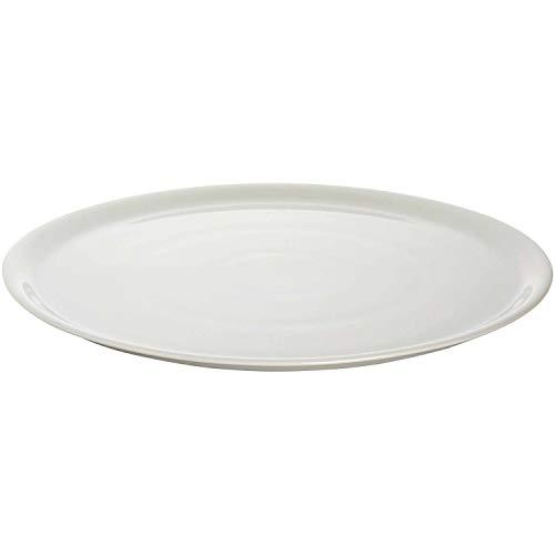 Saturnia 2 x Teller flach groß Pizzateller Porzellan weiß Ø 35 cm
