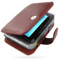 PDair Handarbeit Leder Hülle - Leather Book Case for Sony VAIO Type U VGN-UX Series (Red Crocodile Pattern)