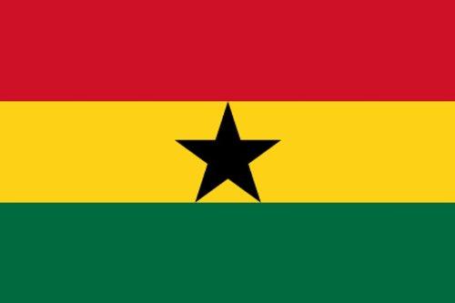 Qualitäts Fahne Flagge Ghana 90 x 150 cm mit verstärktem Hissband
