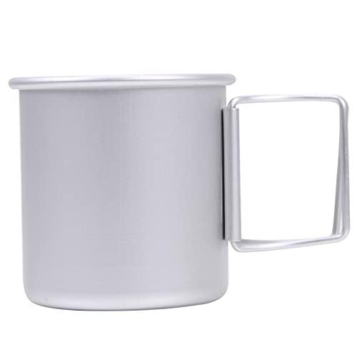 UIOP Café Plegable portátil Taza Taza de té de Aluminio Acampada de Aluminio Agua Bebida Taza de Camping Taza de Picnic Taza de Agua vajilla 821 (Color : Silver)