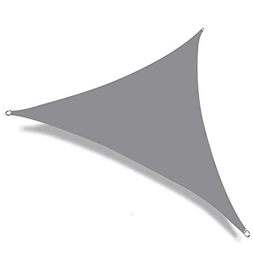 GPWDSN Toldo Sun Shade Sail PU impregnado Triángulo Impermeable 95% Block Sun Shade Toldo con Cuerda, para Patios al Aire Libre, jardín, Patio Trasero (3X3X3M, Gris)
