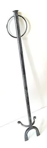 Soufflet de cheminée - Art. 6492Mod Manchette pour cheminée – Soufflet en bois avec housse en cuir synthétique – Soufflet de cheminée
