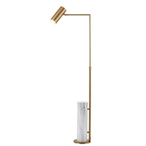 Lampes de chevet Lampadaire Simple Moderne Lampadaire en Métal Chaud Mode Salon Chambre Chambre Salle À Manger Lampadaire Vertical Lampe De Lecture (Color : Gold, Size : 39 * 115cm)