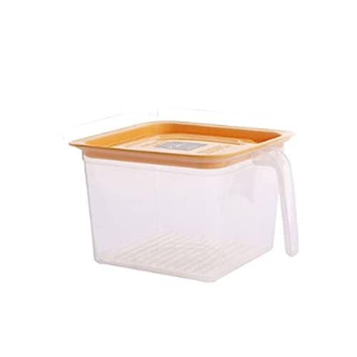 Fiambrera Recipientes de almacenamiento de refrigerador de plástico para cocina, portero de organizador de refrigerador apilable con asa y tapa para
