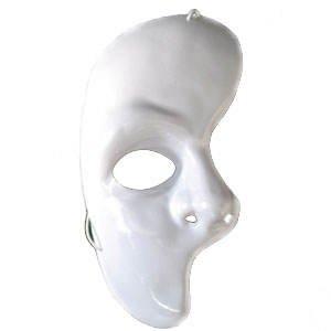Party-Discount Maske Phantom der Oper - eine Gesichtshälfte