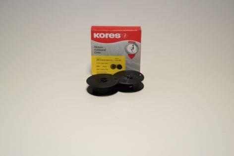 Kores G001NSS Farbband, Seide schwarz für Modell DIN Doppelspule
