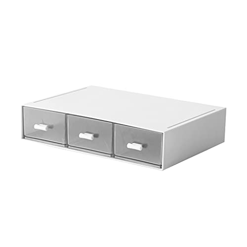 Amagogo Cajón de escritorio multifuncional, contenedor de almacenamiento, mesita de noche, caja de...