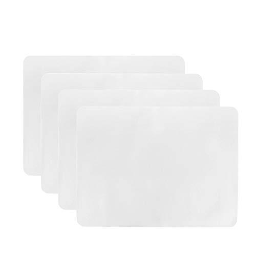 Hpamba Manteles Individuales Lavables Juego Mesa Plástico Antideslizantes Transparentes Resistentes Alfombrillas Mesa Comedor Cocina PP Tapetes de Mesa Impermeables Transparentes Antideslizantes 8PCS