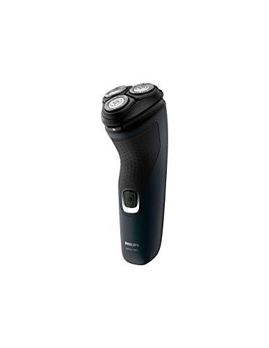 Philips S1131Afeitadora Serie 1000, Sistema cuchillas PowerCut, Cabezales pivotantes 4 direcciones, Fácil Limpieza (One touch open), 40min autonomía con 8h de carga, Batería NiMH, uso CON y SIN cable