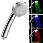 LD8008-A10 Temp-sensible 3-Color Changing LED Bathroom Shower Spraying Head
