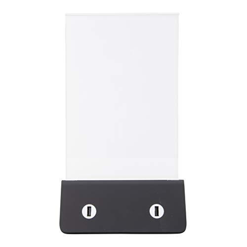 Securit Powerbank - portaposter caricabatteria da Tavolo, con 4 attacchi USB - Un Cavo con 3 uscite per ricaricare Diversi cellulari