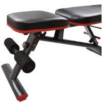 Heavy Duty Adjustable and Foldable Utility Weight Bench for Upright, Incline, Decline, and Flat Exercise