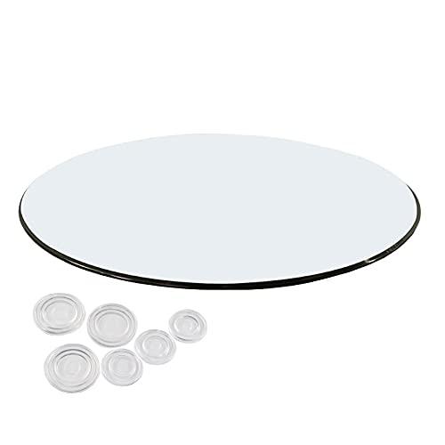 WXZX Cristal Redondo Tablero Transparente De Mesa 48 Cm, Manteles Y Accesorios para Mesas, A Prueba De Agua Escritorios De Oficina, Gran Capacidad De Carga (Color : Clear, Size : 38 cm (15 Inches))