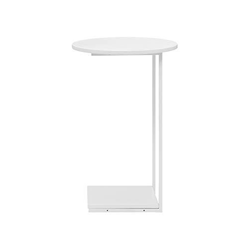 Tables FEI - Bureau d'ordinateur d'appoint Amovible de Chevet PC Canapé Salon Chambre d'extrémité pour Tous Les postes de Travail (Couleur : Blanc)