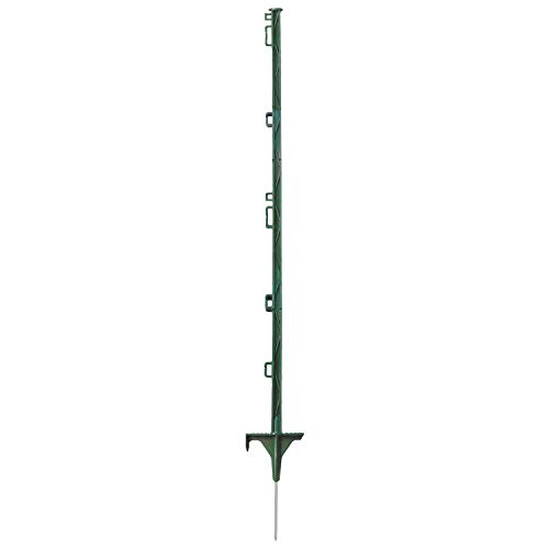 Eider 20x kunststof palen 105 cm 1-punt groen - lengte boven de grond: 85 cm - runder, ponys, schapen, wilde afweer - Made in Germany