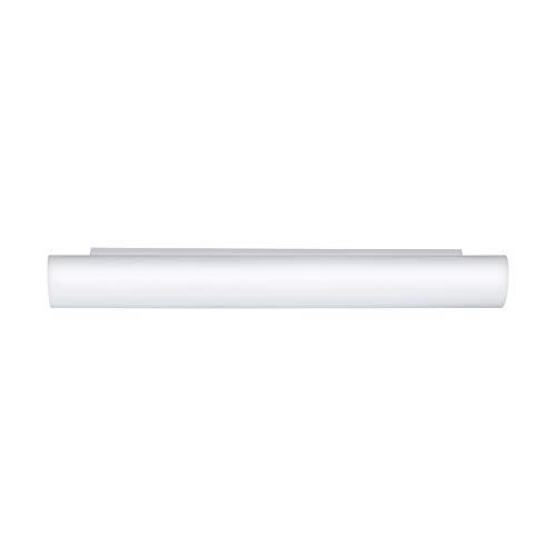 EGLO Wandleuchte Zola 3x40W aus Glas in weiß, Stahl, Länge 57 cm, 120 W