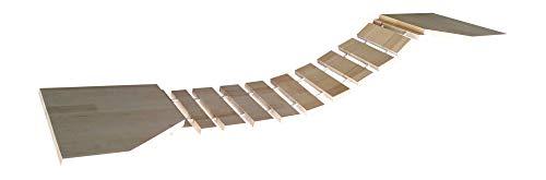 Chrischiii84 Hängebrücke für Katzen schmal, Buche massiv, 100cm - 500cm