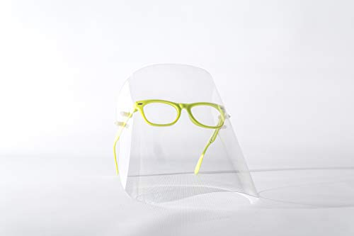 Gesichtsschutzschirm, Gesichtsschutz, Gesichtsmaske, Schutzmaske, Industriemaske, Augenschutz, Kunststoffmaske, Maske mit Brille, sterile Maske, 7 Farbe, hergestellt in der EU (1 Pack, Green)