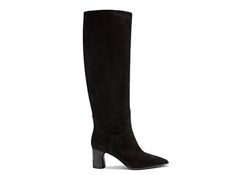 Casadei Schwarze Stiefel an der Ferse, Schwarz - Schwarz - Größe: 37.5 EU