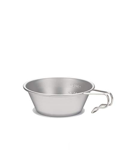 """Snow Peak Sierra Cup, E-103 Stainless Steel, Made in Japan, Lifetime Product Guarantee, Lightweight, Compact for Camping or Backpacking, Silver, D 4.8  H 1.75"""" 10.9 fl. oz."""