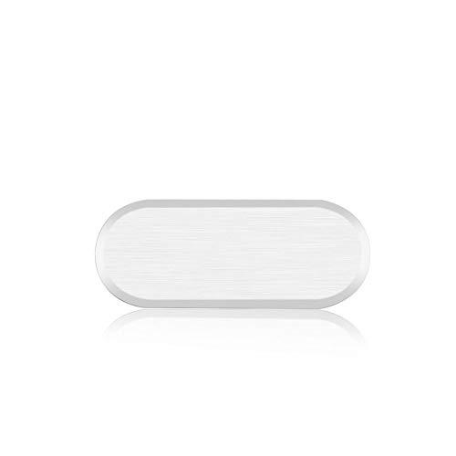 Home Button Protective Aufkleber Metall Aluminiumlegierung Telefon Aufkleber Case Skin Cover Handy Home Tastatur Keycap für Samsung Galaxy S6 / S7 Edge (2 Packs, Splitter)
