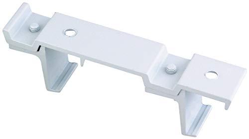Support plafond 24 x 16 mm - Double - Démontable blanc - Vendu par 1