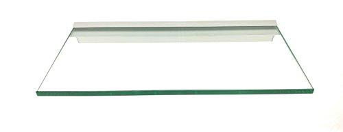 Regale4You Glasregal: 40x20 cm KlarGlas 10 mm mit Profil LINO10 komplett mit Befestigung / 1...