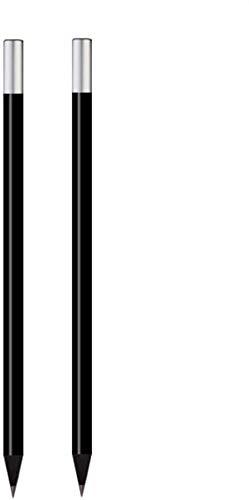 2er Set Magnetbleistifte in Stifteetui/Bleistift mit Magnet, schwarz, ideal als Kühlschrankmagnete, Zubehör für magnetische Notizblöcke