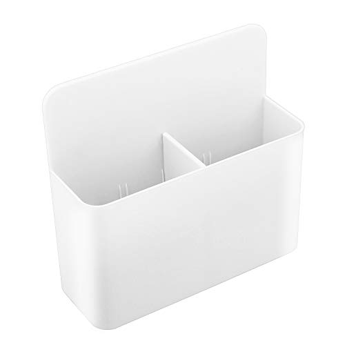 MoKo Magnetic Dry Erase Marker Holder, Magnetic Pen Pencil Holder Storage Organizer for Whiteboard, Refrigerator, Locker and Other Magnetic Surfaces - White
