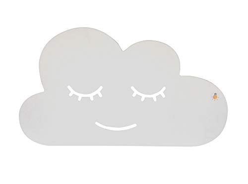 made2trade Wandlampe - Kinderleuchte - Schlummerleuchte fürs Kinderzimmer - Mit Fernbedienung und Timer - Wolke