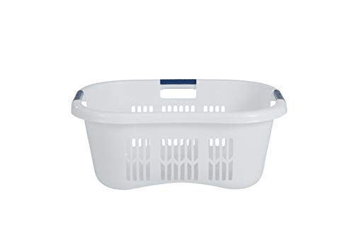 Rubbermaid FG299587WHTRB Laundry Basket, 2.1-Bushel , White