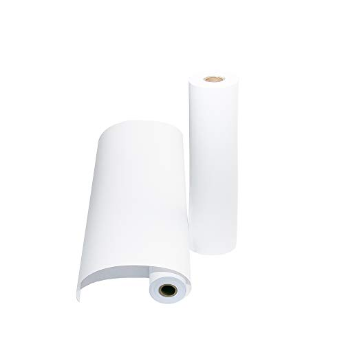 """2 Pack - White Kraft Paper Roll 17.75"""" x 100' Each (200ft Total) Premium Thick 50 lb Paper for Easel Drawing, DIY Painting, Arts and Crafts Projects, or Gift Wrapping, Non-Yellowing, Made in USA"""