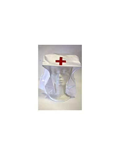 DISBACANAL Cofia de Enfermera con Velo