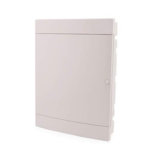 Caja de fusibles empotrada de 3 filas para 54 módulos empotrada con puerta blanca de carril DIN IP40 para la instalación de la habitación seca en su casa