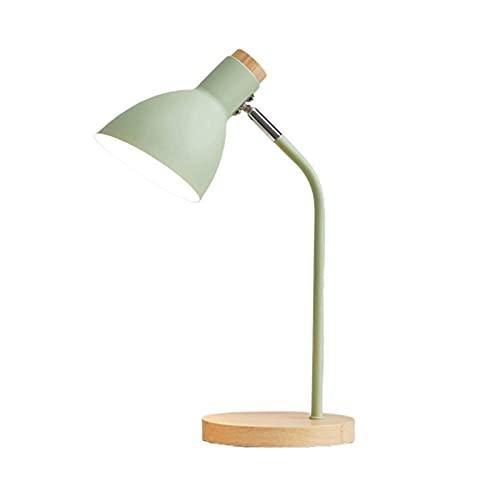 Lámpara de escritorio, lámpara de escritorio, dormitorio, lámpara de noche, lámpara de noche, salón, sala de estudio, sala de oficina, protección de los ojos (color verde)