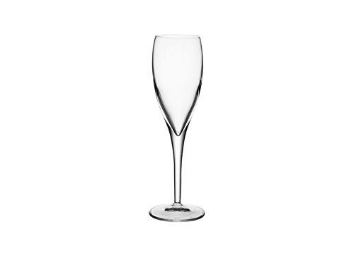 Luigi Bormioli 7540105 Boîte de 6 Flûtes, Cristal, Transparent, 6 Unité (Lot de 1)