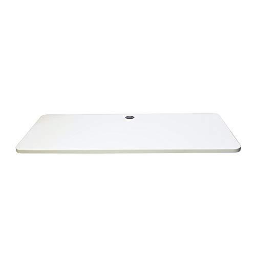 PUCHIKA Escritorio de altura regulable, tablero blanco, adecuado para montaje eléctrico, altura regulable, esquinas redondeadas, 1200 x 700 x 25 cm