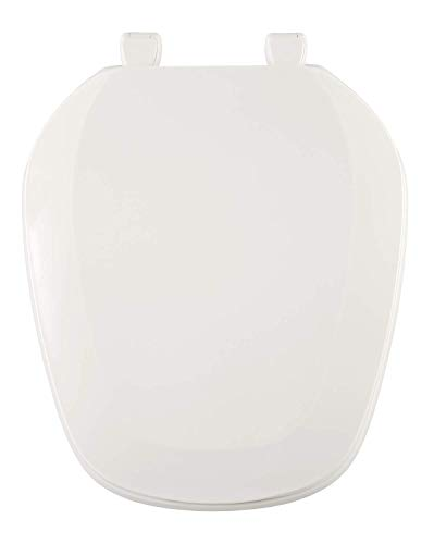 Centoco EMB201-001 Eljer Emblem Round Toilet Seat with Square Front, White