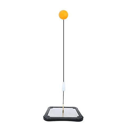 Gelentea Tables Tennis Rebound Trainer Paddel PingPong Training Equipment Rebound Shaft Back Bound Machine, Fester Schaft, Rapid Back Bound Maschine für Ping Pong Ball Training Quadratischer Boden