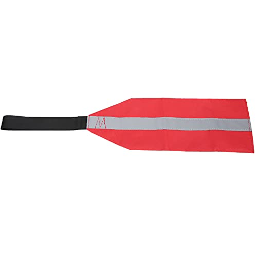 BIKING Bandera de Seguridad para Kayak, Bandera roja de Seguridad para Kayak, Tela Oxford, Bandera de Advertencia de Viaje de Seguridad para Kayaks, Equipo de canoas(No Reflective Strips)