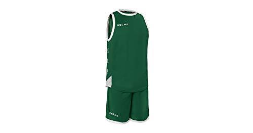 KELME 80803 Conjunto Equipaciones de Baloncesto, Hombre, vorest (Forest) / Blanco, XL